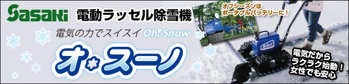 電動除雪機オスーノ